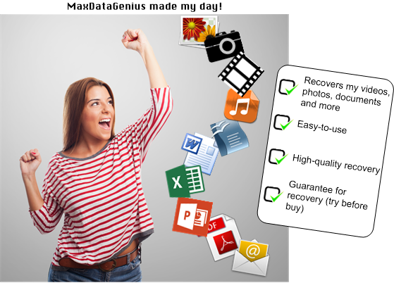 MaxDataGenius was created to easily solve complex data recovery cases