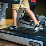 Pushing an emergency button on the treadmill prevents injuries