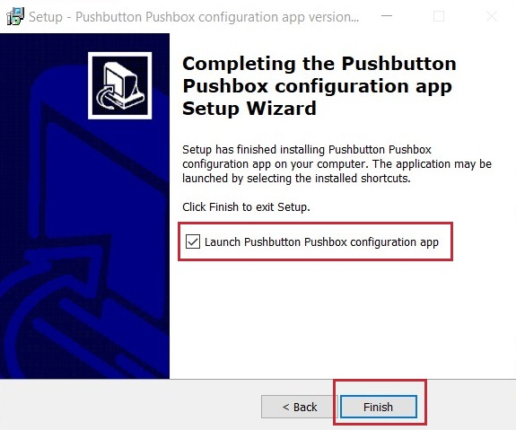 GUI for USB pushbutton or USB pushbox - complete installation