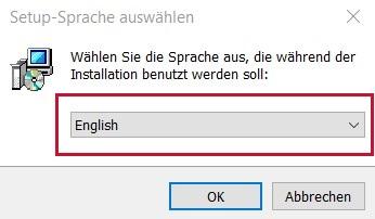 GUI for USB module - language selection