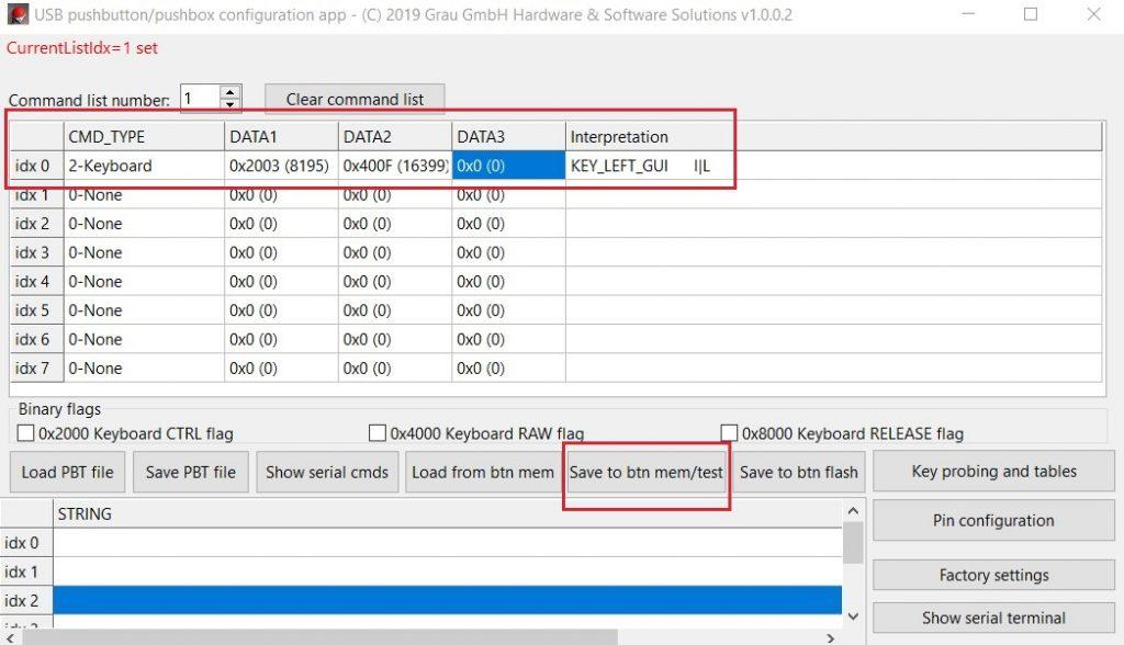 "Programming ""Windows+L"" with the app - interpretation check"